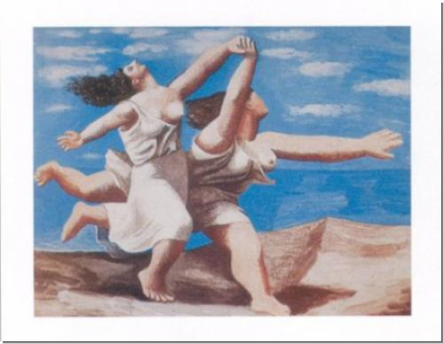 Picasso, Pablo Two women running on the beach